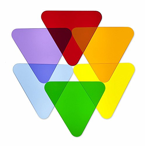Whitney Brothers Color Wheel Triangles-Set of 6 Childrens Wall Decor