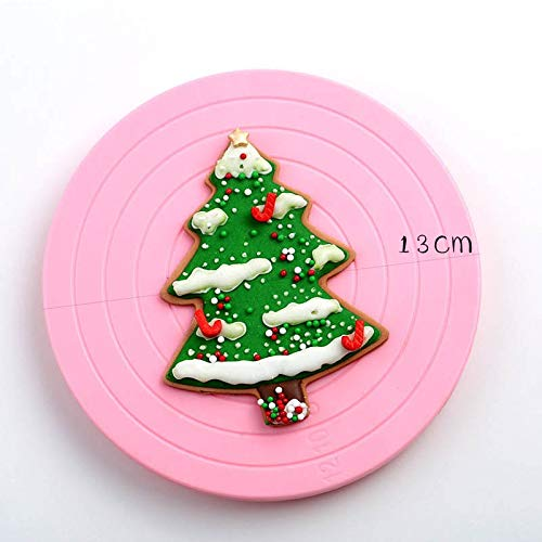 1 piece Royal icing cookie Cake mini Plate Revolving Decoration Stand Turntable Round Rotating Cake Swivel Pastry Baking Tool