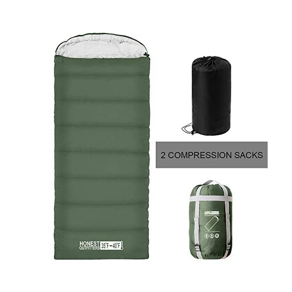 HONEST OUTFITTERS Sleeping Bag with Compression ...  sc 1 st  C&ing Tents & HONEST OUTFITTERS Sleeping Bag with Compression Sack Envelope ...