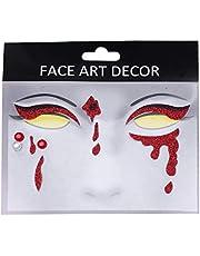 Beaupretty 1 vel Halloween gezichtssticker gezicht edelstenen Tijdelijke tatoeages, glitters, waterdicht, decoratieve stickers voor Halloween-accessoires.