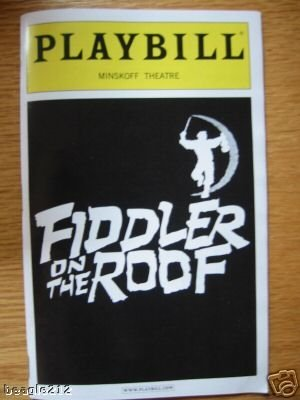 Brand New Playbill from Fiddler on the Roof the 2004 revival which played at the Minskoff Theatre starring Harvey Fierstein Lori Wilner Nancy Opel Sally Murphy