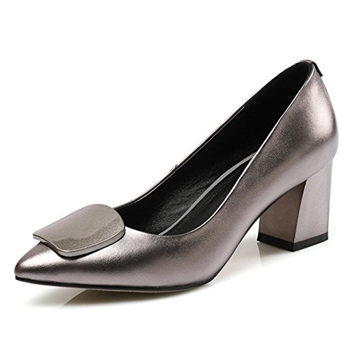 Picture of Nine Seven Women's Pointed Toe-Elegant Chunky Heel-Sexy Dressy Handmade Dress Pumps Shoes