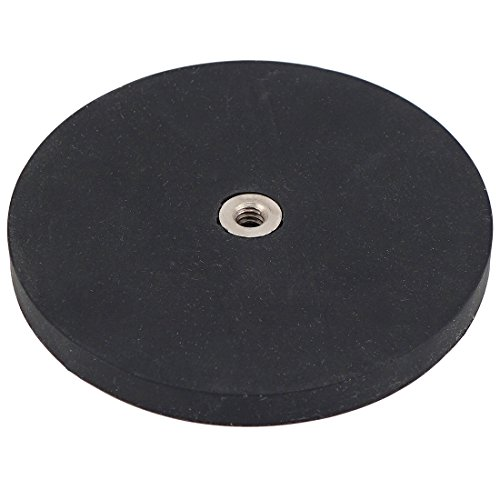 (Master Magnetics NADR257FBX Retaining Magnet with 1/4-20 Internal Thread, Rubber Covered Black, 2.57