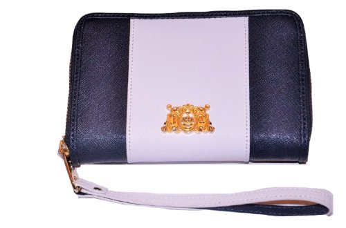 Juicy Couture Dual Color Tech Wristlet YSRUS085 (Navy Blue & White) (Juicy Couture Wallets For Women)