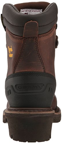 Chippewa Mens 8 Inch Chocolade Geolied Waterdicht Comp Teen Logger Boot Bruin