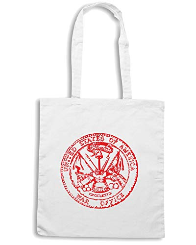 Speed Shirt Borsa Shopper Bianca TM0420 ARMY SEAL WAR OFFICE
