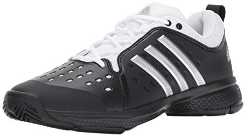 adidas Men's Barricade Classic Bounce Tennis Shoe, Core Black/Metallic Silver/White, 12.5 M ()