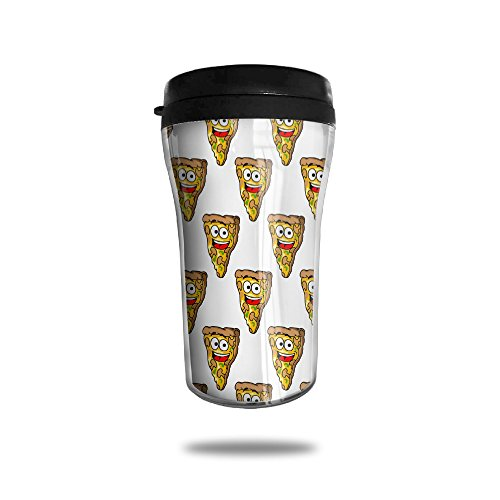 CUP HOME Pizza Food Face Adults Children Insulation Heat Insulation Travel Thermos Coffee Mug Small Convenient To Carry
