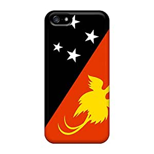 High Impact Dirt/shock Proof Cases Covers For Iphone 5/5s (papua New Guinea Flag)