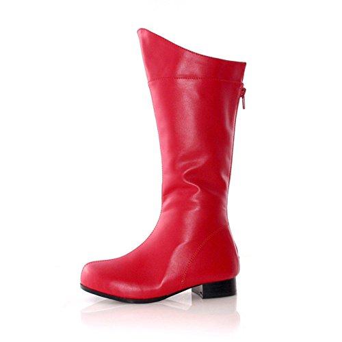 Shazam Costumes (ELLIE SHOES Shazam (Red) Child Boots Small (11-12))