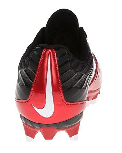 Nike Herren Vapor Speed Low TD geformte Fußballschuh Rot / Schwarz / Weiß