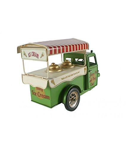 CAL FUSTER - Moto carro de los helados color verde. Medidas: 20x30x12 cm.: Amazon.es: Hogar