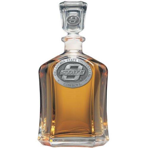Oklahoma State Cowboys Glass Capitol Decanter (Spirit Holder) 24 oz - NCAA College Athletics