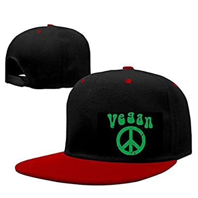 DGJ8GB Unisex Vegan Peace Hiphop Flat Bill Snapback Caps Adjustable Baseball Caps for Women