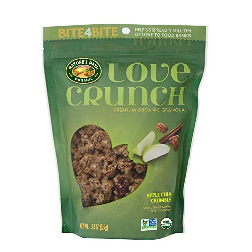 Cinnamon Crunch Granola (Nature's Path Organic Love Crunch Premium Granola, Apple Chia Crumble, 11.5 Ounce (Pack of 6))