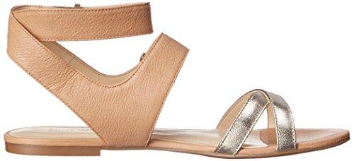 Nine West Darcelle de cuero del vestido de la sandalia Natural/Gold