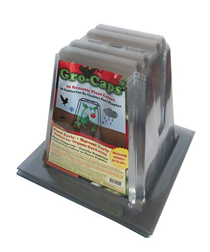 Gro-Caps Reusable Plant Covers (30 Pack) Plant Protection from Frost, Cold Weather, Garden Insects, Pesticides, Rodents & Rabbits for All Your Plants, Vegetables & Flowers. Grow Organic with Gro-Caps.