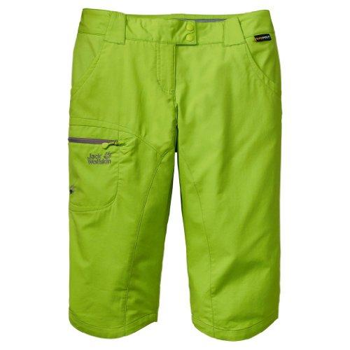 Jack Wolfskin Pantalón 3/4Pantalón Softshell Activate Pants. Mujer. fhlt se muy bien a la. Green., mujer, color parrot green, tamaño 34