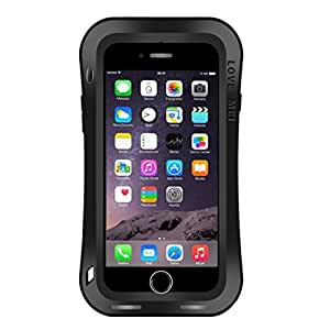 L.L.BEAR LOVE MEI for iPhone 7 Waistline Triobump Professional and Powerful Dustproof Shockproof Anti-slip Metal Protective Case ( Color : Black )
