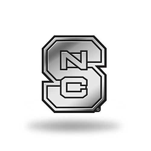 Rico Industries NCAA North Carolina State Wolfpack Chrome Finished Auto Emblem 3D Sticker