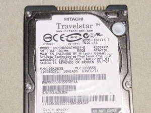 90 DAYS WARRANTY IC25N080ATMR040 Like New PULLS//ZERO HOURS Hitachi IC25N080ATMR04-0 Hitachi 80GB 2.5 IDE HD