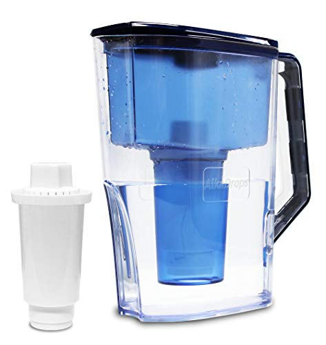 AlkaDrops Alkaline Water Pitcher | Instant Alkaline Water Purifier | Great Purifying Pitcher for Alkalizing Water |High Ph Alkalizer Pitcher Water Pitcher with Filter - BPA Free