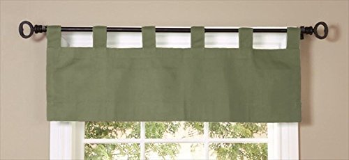 Commonwealth Home Fashions Thermalogic Weather Insulated Cotton Fabric 40 X 15 Tab Valance Sage