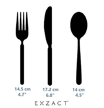 Exzact Cuberter/ía Infantil 3 Pieza para ni/ños de Acero Inoxidable 1 x cena cuchillo 1 x cena cuchara Perro Gato Conejo x 3 1 x cena tenedor