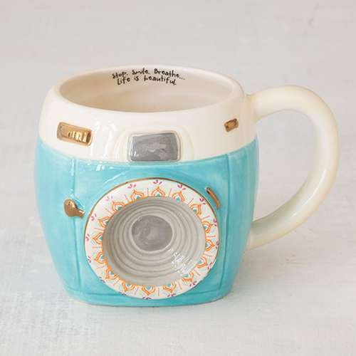Natural Life Camera Folk Art Mug
