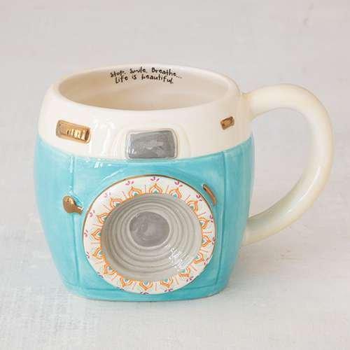 Natural Life Camera Folk Art Mug