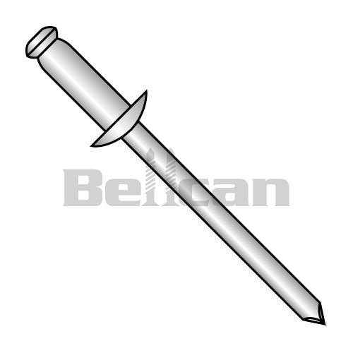 Bellcan BC-SSDSS40 Stainless Steel Rivet With Stainless Steel Mandrel 1/8 X .01-.03 (Box of 1000) ()
