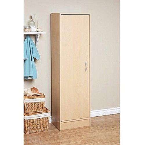Mylex Pantry Single Door Storage Cabinet Cupboard Utility Closet Kitchen Furniture, Maple