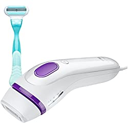 Braun Gillette Venus Silk-Expert IPL 3001 Intense Pulsed Light, SensoAdapt Technology, Body Hair Removal System with Razor