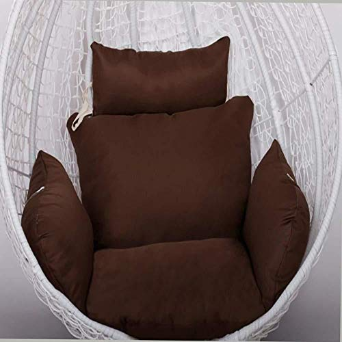 MonthYue Hanging Basket Chair Cushion, Hanging Egg Chair Cushion Thick Nest Single Basket Wicker Rattan Chairs Pads,Brown (Wicker Difference Between Rattan And Furniture)
