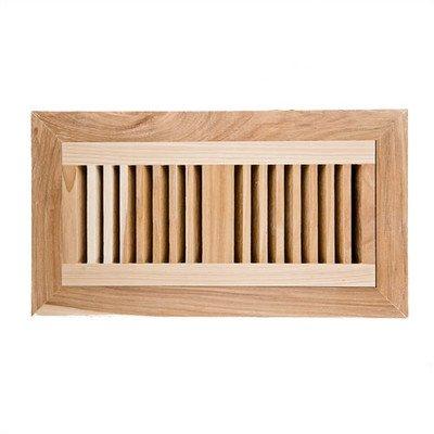 - Hickory Flush Mount Wood Vent Cover With Frame & Metal Damper Size: 4