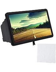 3D schermversterker, vergrootglasversterker voor 12 inch beeldscherm, geschikt voor alle mobiele telefoons(black)