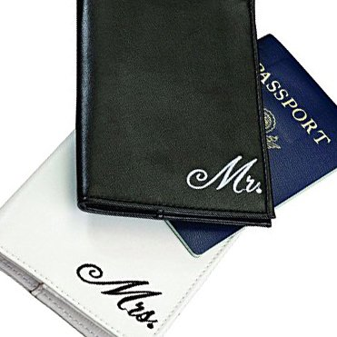 Adorox Mr. and Mrs. Passport Covers Holder Wallet Wedding Gift