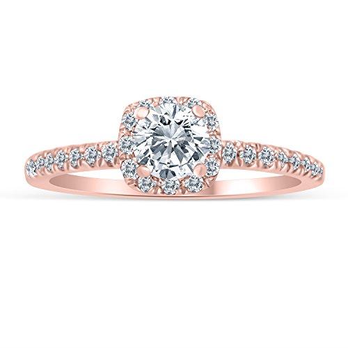 Diamond Halo Ring - 6