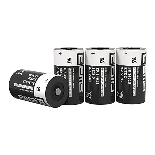 EEMB 3.6 V D Size Lithium Battery ER34615 19000 mAh Li SOCL2 UL Certified Non Rechargeable 3.6 Volt Lithium Thionyl Chloride Battery