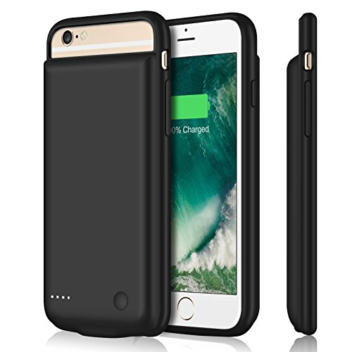 iPhone 6 6s Battery Case 5000mAh Upgraded iPosible Portable iphone 6 Charging Case Battery Pack,Protective Juice Pack Charger Case for iPhone 6s 6 (4.7 inch)-Black