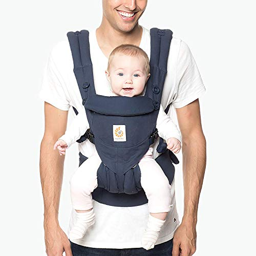 (Ergobaby Carrier, Omni 360 All Carry Positions Baby Carrier, Midnight Blue)