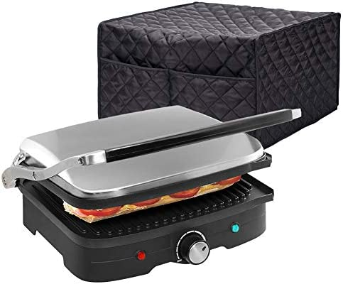 Smart Griddler Cover, Nonstick Grill Appliance Cover, Large Size Electric Griddler Cover, 16 Lx14.9 Wx9 H, Diamond Collection Kitchen Appliance Case With Two Big Pockets,Provide Yeal Around Protection For Your Appliance