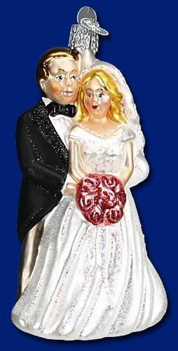 Bridal Ornaments (Old World Christmas Bridal Couple Glass Blown Ornament)