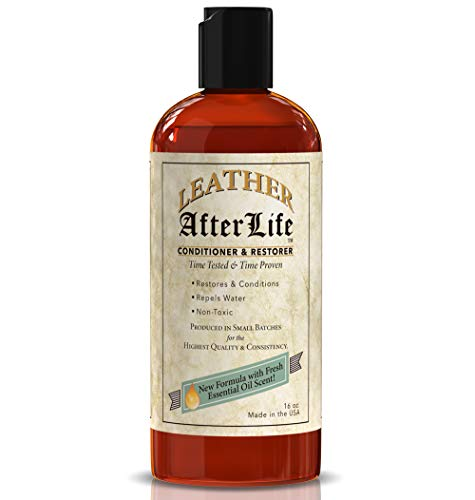 Leather Afterlife Leather Conditioner & Restorer - The Best Leather Protectant - Cars, Furniture, Seats, Shoes, Couch, Boots, Saddles Purses & More - Repels Water - Penetrates & Protects (16 oz) (Denver Furniture Repair)