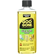 Goo Goo Glue & Tape Adhesive Remover - 4 Ounce - Removes Adhesives Stickers Crayon Glue Tape Gum Window Decals Glitter Labels and More