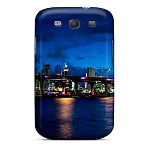 For HTC One M7 Case Cover Hard shell Miami At Night