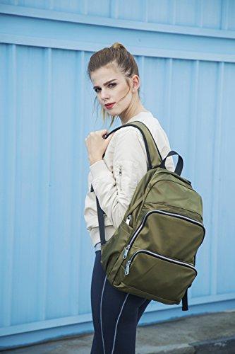 Plovers Bag Unisex Nylon Segeltuch Rucksack Schule Schultertaschen Buchbags Daypack Schüler Tasche grün DVG7QNeSI2