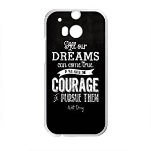 Walt Disney Dream Quotes Design Hard Case Cover Protector For HTC M8