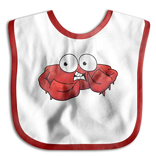 Red Crab With Big Eyes Funny Baby Bibs Burp Infant Cloths Drool Toddler Teething Soft Absorbent ()
