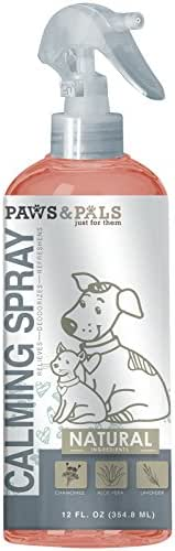 Paws & Pals Pet Natural Calming Spray Cologne or Chews Treat for Dogs and Cats – Anxiety Composure Supplement Support Formula - Stress Reliever with Chamomile, Aloe Vera and Lavender